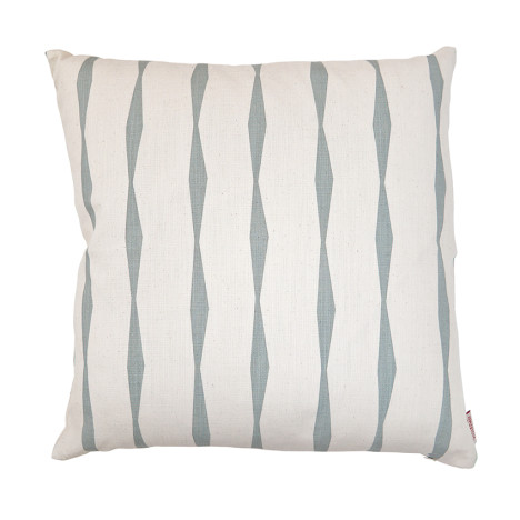 Skinny laMinx_Cushion Brancusi stripe _Wedgewood