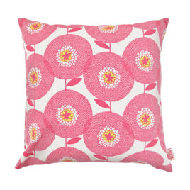 Flower Fields Rosy Scatter Cushion Cover