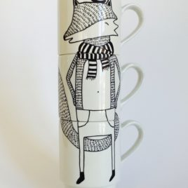 Illustrated Stacking Mugs – For Fox Sake