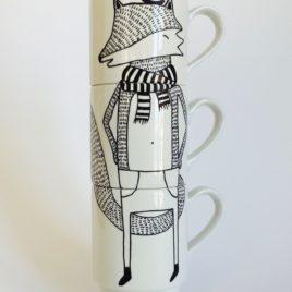 Illustrated Stacking Mugs – For Fox Sake