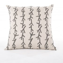 Charcoal Twigs Scatter Cushion Cover