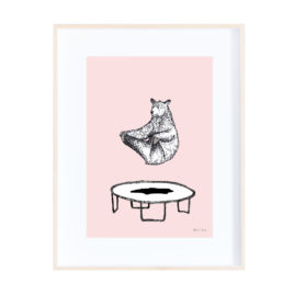 Trampolining Bear! – Colourful and Quirky Print