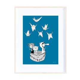 Origami Birds Print