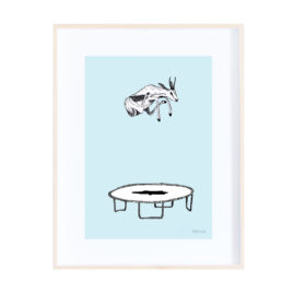 Trampolining Springbok! – Colourful and Quirky Print
