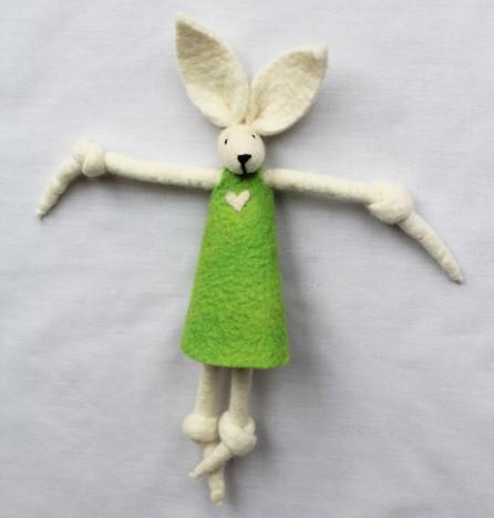 Girl Bunny Lime Green