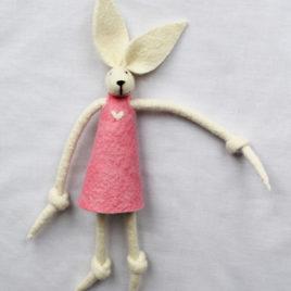 Handmade Felt Fun Bunny – Pink Girl