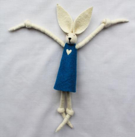 Girl Bunny Teal