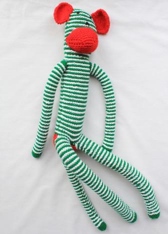 Green and White Stripe Monkey 2