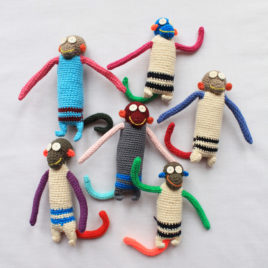 Crochet Hanging Monkeys