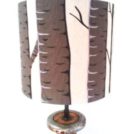 Silver Birch Lampshade