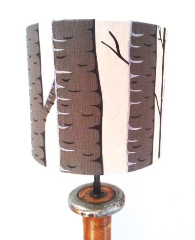 Silver Birch Lampshade