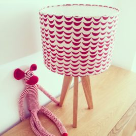 Red Waves Lampshade