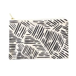 Black and White Lines Pouch
