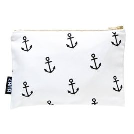 Black and White Anchor Pouch