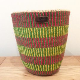 Kiama (Magical) Yellow, Green and Red Sisal Basket