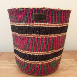 Jamani (Friendship) Pink, Green and Black Sisal Basket