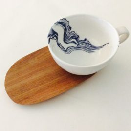 Mineral Indigo – Large Cup & Saucer
