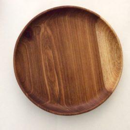 Solid Kiaat (Namibian Teak) Round Plate