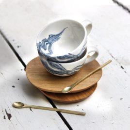 Mineral Indigo – Espresso Cup & Saucer