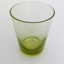 Handmade Bubble Glass Tumbler – Tuscan Yellow