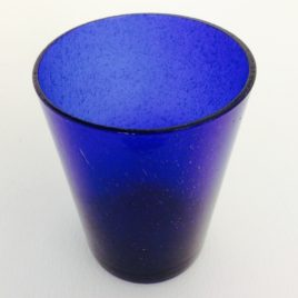 Handmade Bubble Glass Tumbler – Cornflower Blue