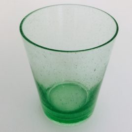 Handmade Bubble Glass Tumbler – Malachite Green