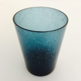 Handmade Bubble Glass Tumbler – Mineral Blue