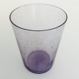 Handmade Bubble Glass Tumbler – Violet