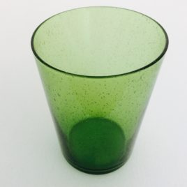 Handmade Bubble Glass Tumbler – Apple Green