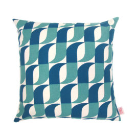 Aperture Petrol Scatter Cushion Cover