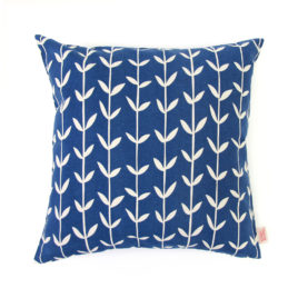 Solid Orla Inky Blue Scatter Cushion Cover