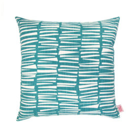 Woodpile Teal Scatter Cushion Cover