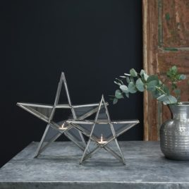 Antique Silver Standing Star Lanterns