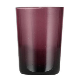 Handmade Bubble Glass Tumbler – Garnet