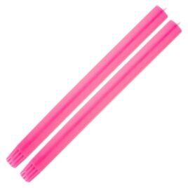 Dining Candle Pair Fluro Pink