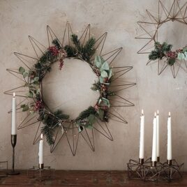 Antique Brass Wreath