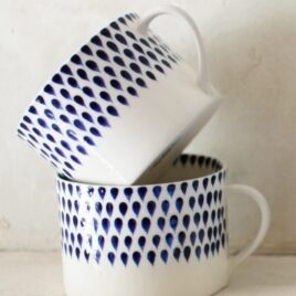 Mug Set of 2-Indigo Drop