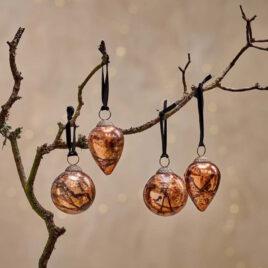 Antique Copper Baubles – Set of 4