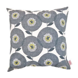 Flower Fields Penny Black Scatter Cushion Cover