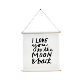 Flag Banner-I Love You to the Moon and Back