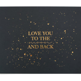 Love You to the Moon and Back Print (Midnight Blue and Gold)