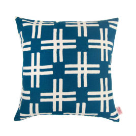 Weft Petrol Scatter Cushion Cover