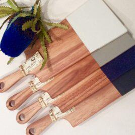 Silkstone and Acacia Wood Board
