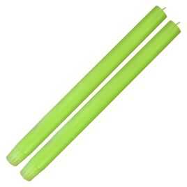 Dining Candle Pair Fluro Green