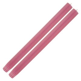 Dining Candle Pair Cerise Red