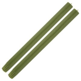 Dining Candle Pair Sage Green
