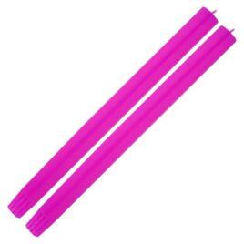 Dining Candle Pair Fluro Purple
